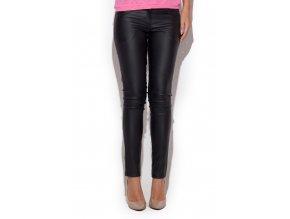 Elegantní lesklé kalhoty Camilla – černé