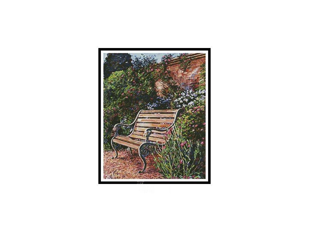 IC20402-12482 Sitting in the Garden (Aida 18ct)