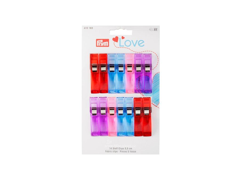 V39729 Svorky na textil 14 ks PRYM LOVE (610183)