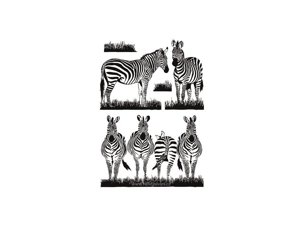 AP10477 Samolepky na zeď - zebry