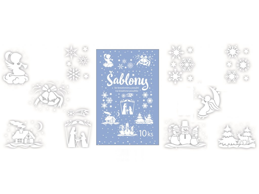 AP1402 Šablony s vánočním motivem (10ks)