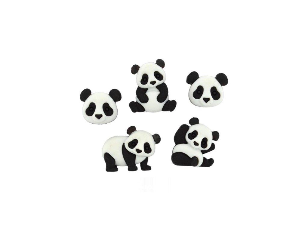 DIU-10421 Ozdobné knoflíky - Panda Pile