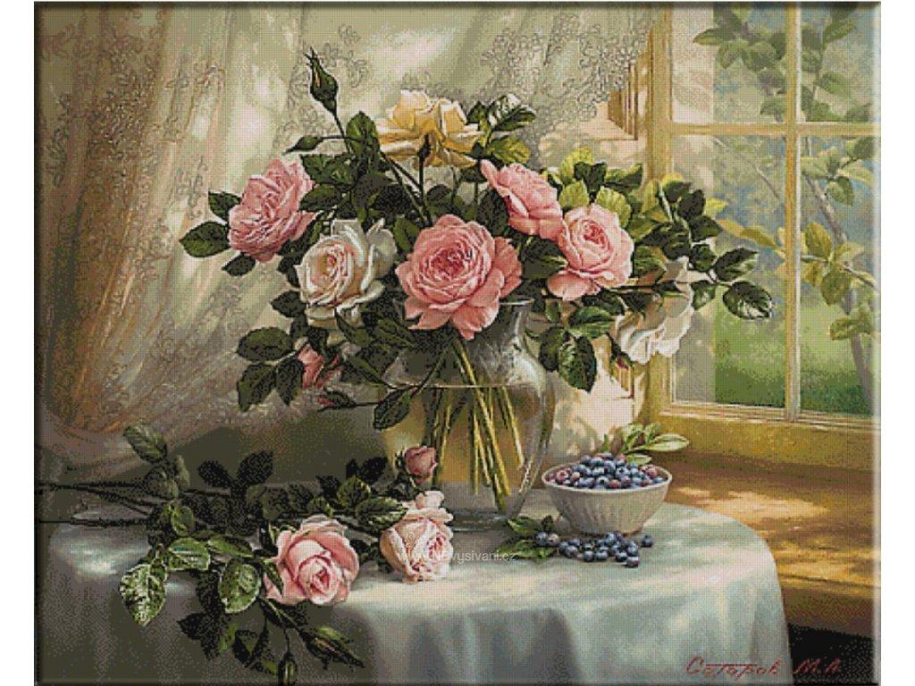 KRI-2618 Roses (gobelínový steh)