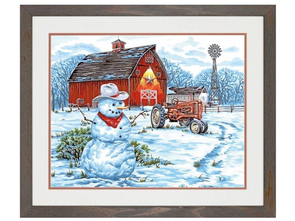 DIM73-91434 Malování podle čísel - Country Snowman (51x41cm)