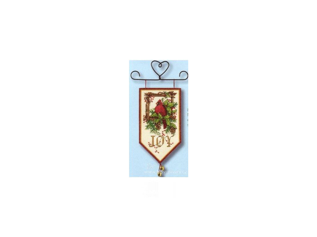 8822 Cardinal Joy Mini Banner - Spokojený ptáček