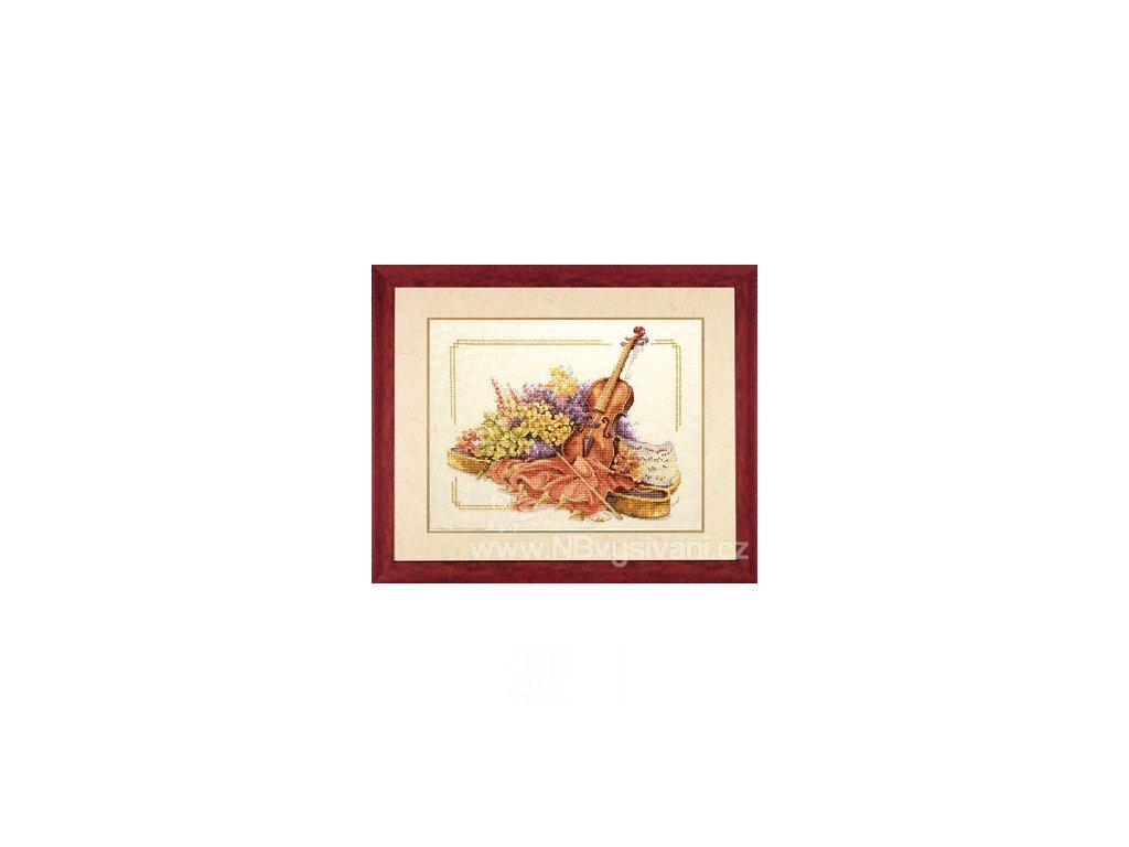 L34128 Housle s květinami (doprodej)