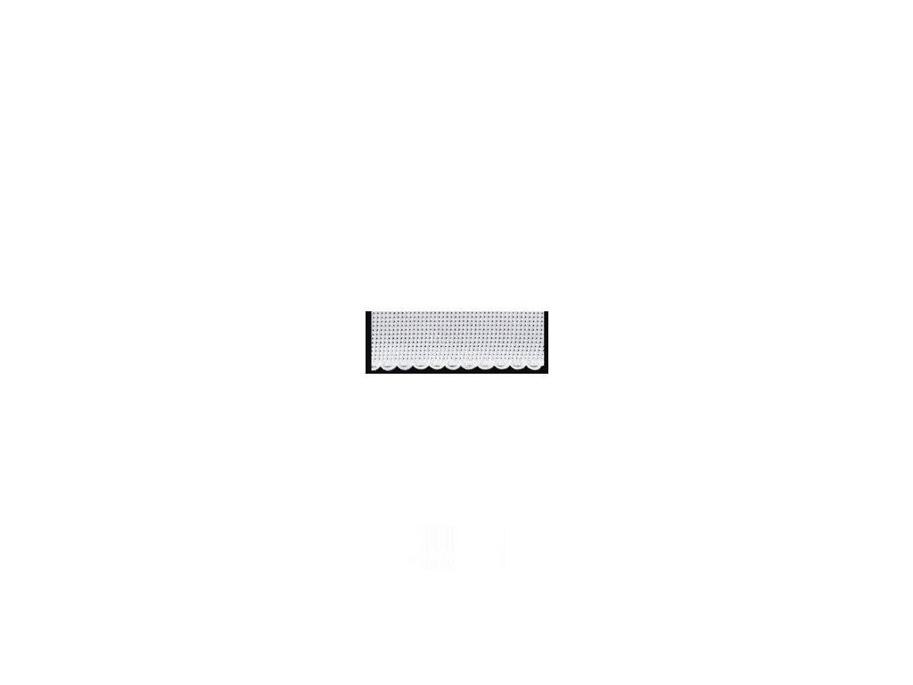 ZW7195-1 Vyšívací stuha bílá š.10cm (1m)