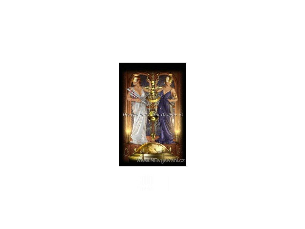 HAED - Tarot Justice (Lugana 25ct)