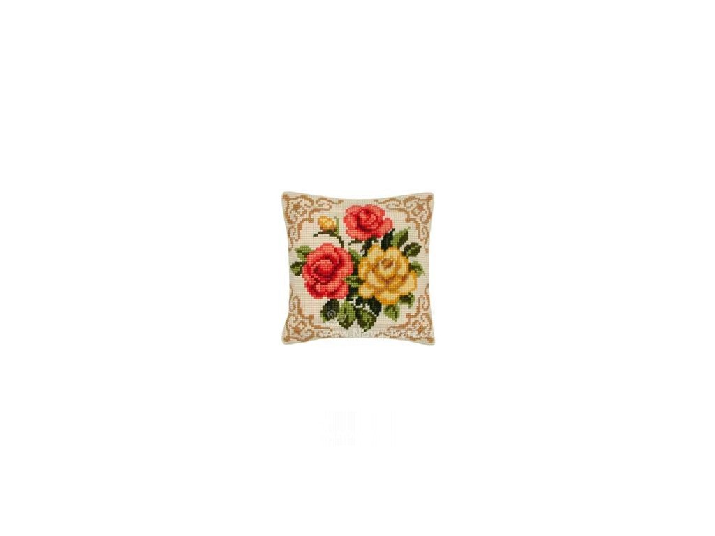 VE1200-613 Polštář - Růže