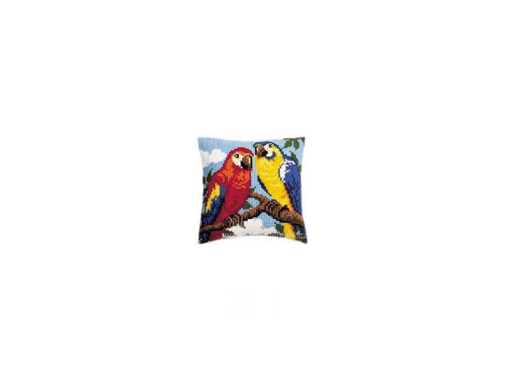 VE1200-582 Polštář s papoušky