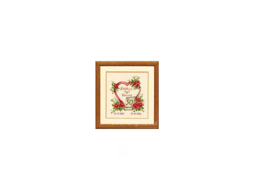 VE2002-75.186 Zlatá svatba a růže