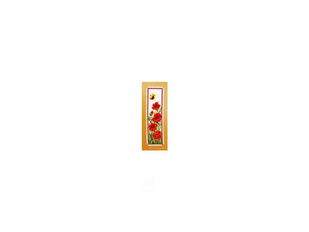VE2002-17.501 Záložka - vlčí máky