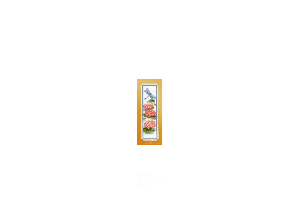VE2002-17.506 Záložka - vodní květy a vážka