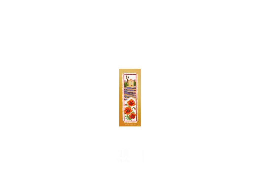 VE2002-17.513 Záložka - levandulové pole a máky