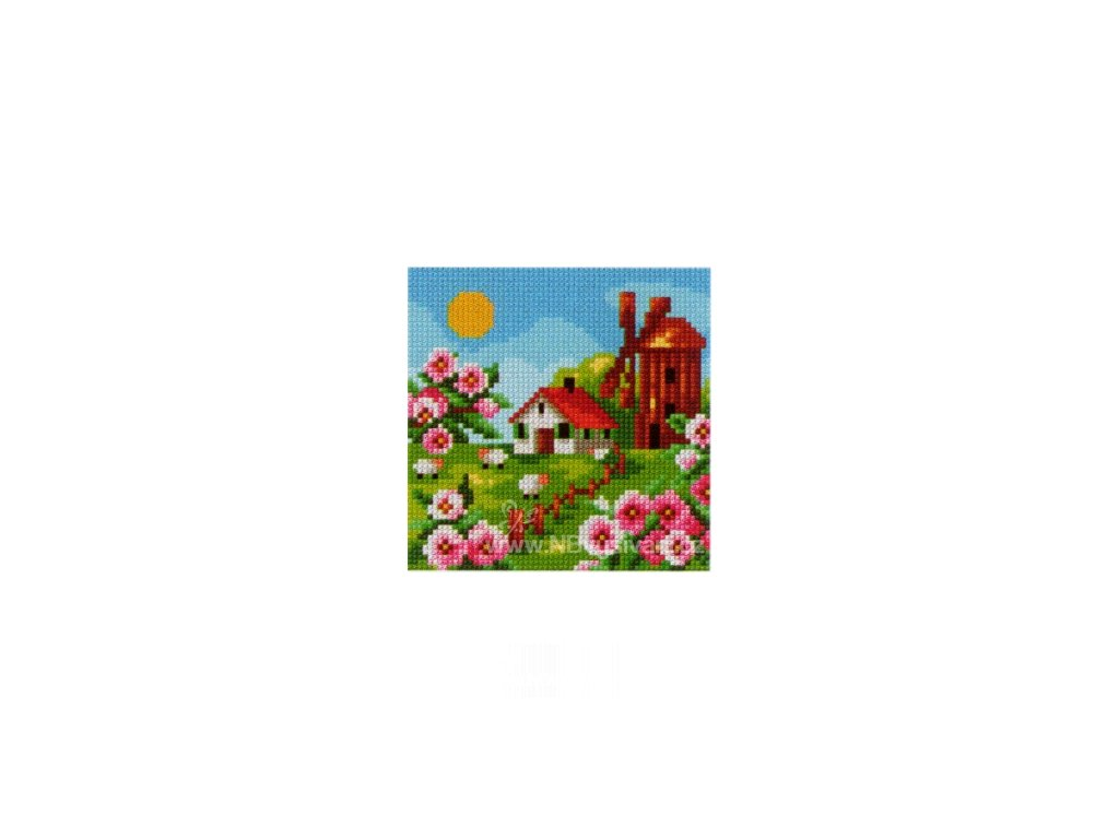 OR2434 Větrný mlýn na jaře