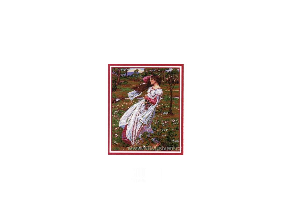 ADA11.498 Dívka s květy
