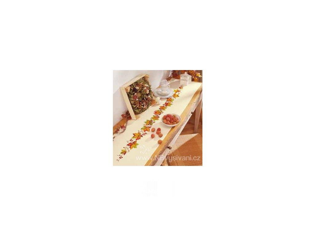 VE2098-9.2953 Ubrus s listy vinné révy (38x142cm)