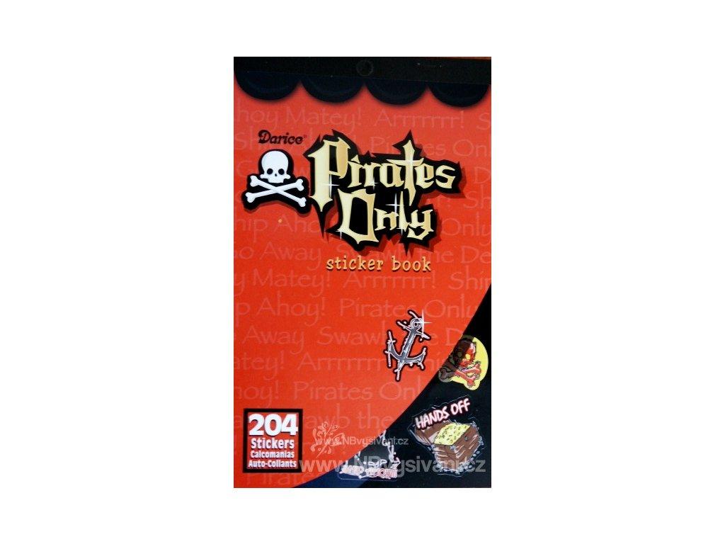 D106-814 Samolepky - piráti (204ks)