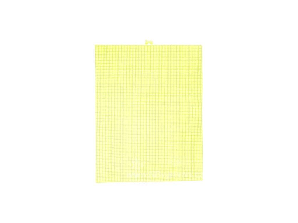 D33900-28 Plastová Aida 7ct neon. žlutá (34x27cm)