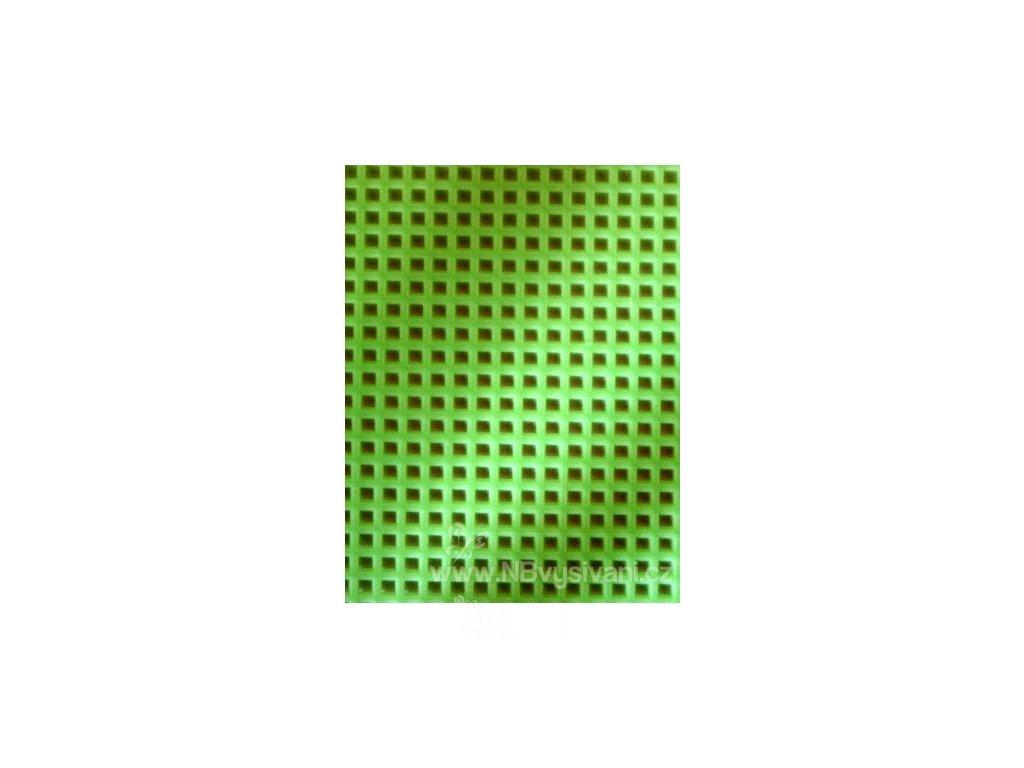 D33900-27 Plastová Aida 7ct neon. zelená (34x27cm)