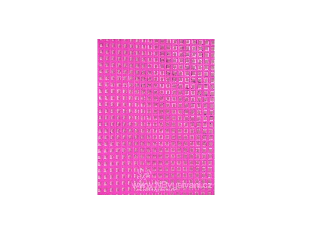 D33900-26 Plastová Aida 7ct neon. růžová (34x27cm)