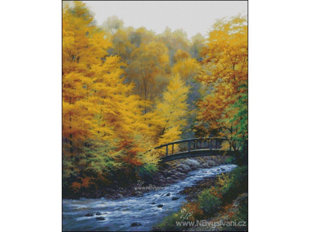 Autumn Stream (Aida 18ct)