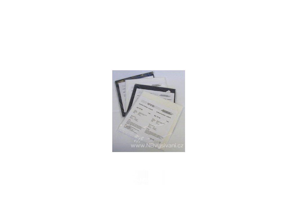 V70152 Vliselin zažehlovací černý (90x100cm)