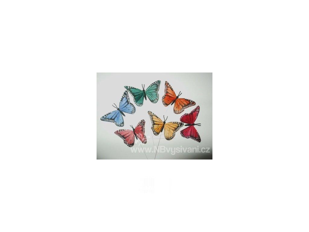 D1300-40 Dekorační motýl - zápich