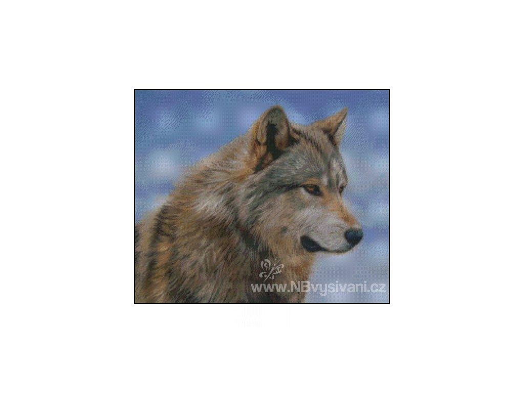 Timber Wolf Face (Aida 18ct)