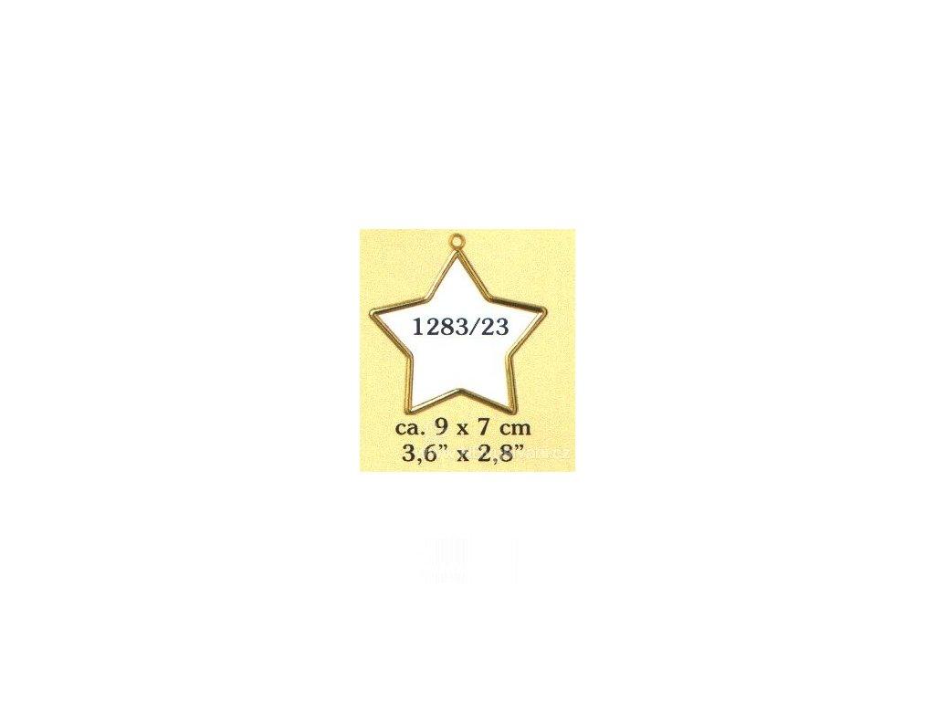 VE1283-23 Plastový rámeček - hvězda