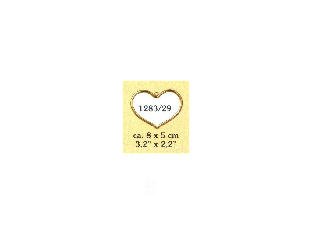 VE1283-29 Plastový rámeček - srdíčko