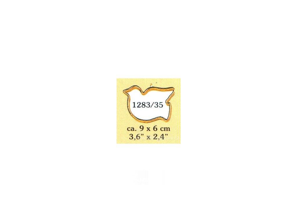 VE1283-35 Plastový rámeček - ptáček