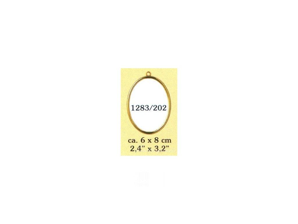 VE1283-202 Plastový rámeček - ovál