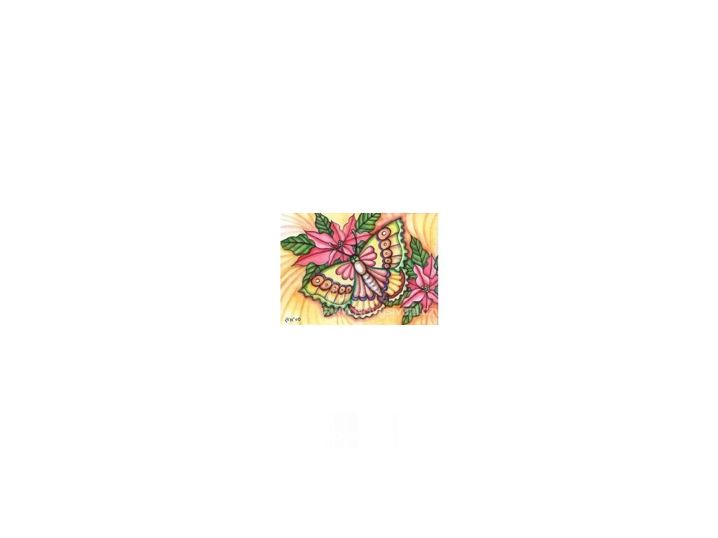 HAED - QS Poinsettia & Butterfly (Aida 18ct)