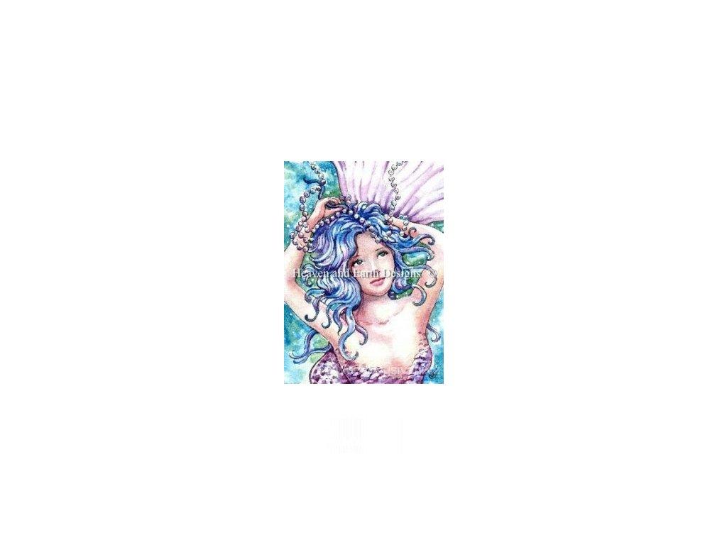 HAED - QS Blue Pearls Mermaid (Aida 18ct)