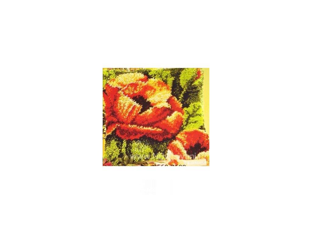 VE2560-3609 Polštářek s vlčími máky (tapico)