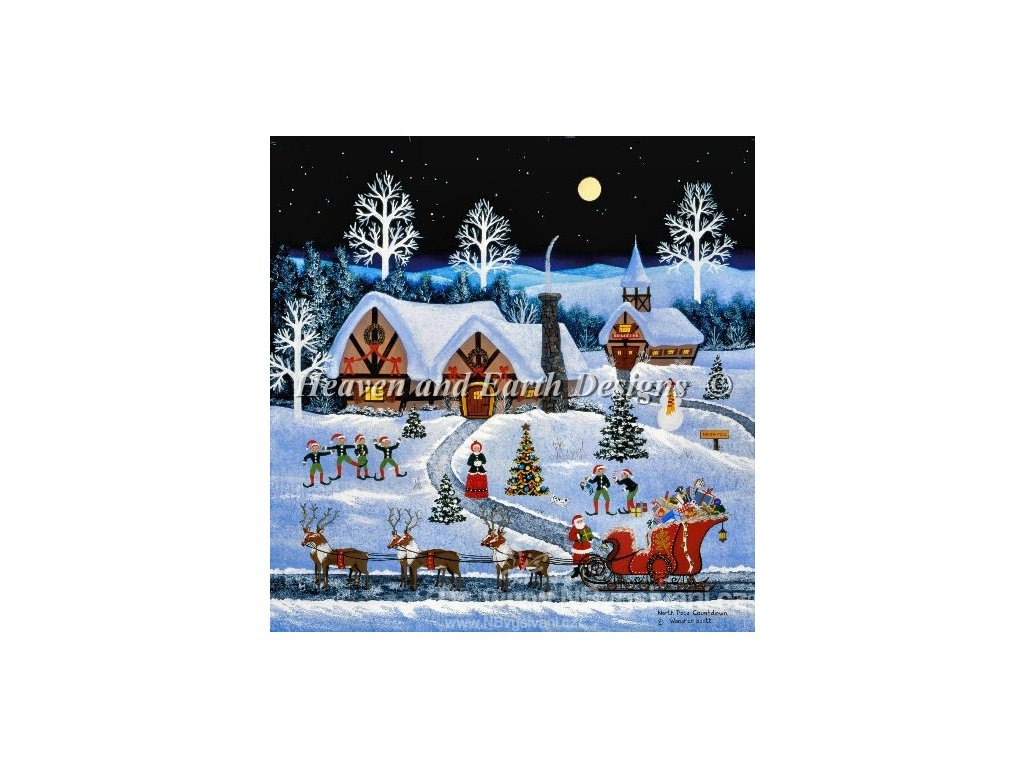 HAED - North Pole Countdown (Lugana 25ct)