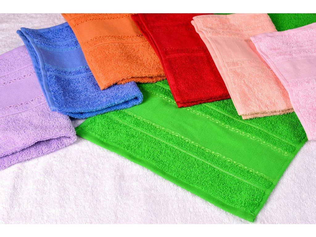 HOF9173-41 Froté ručník k vyšití - modrý (30x50cm)