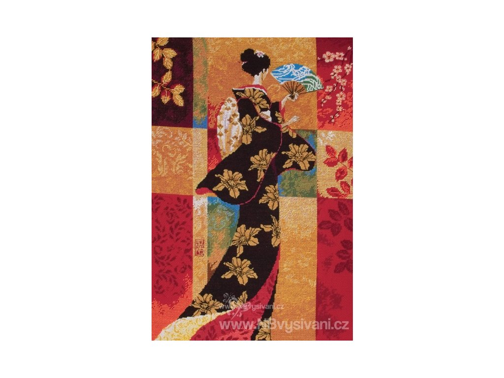 AM5678000-01058 Sakura  (Oriental Lady Black)