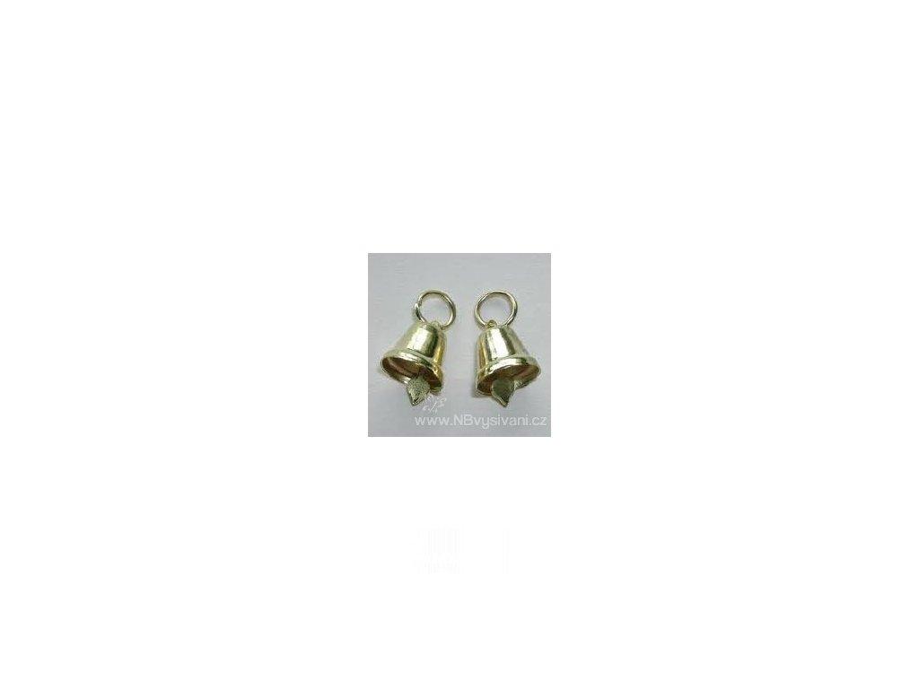 V88534 Zvoneček kovový zlatý 15mm (1ks)
