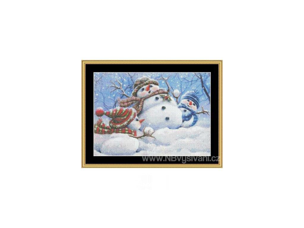 MS-MG25 Snow Play (Aida 18ct)