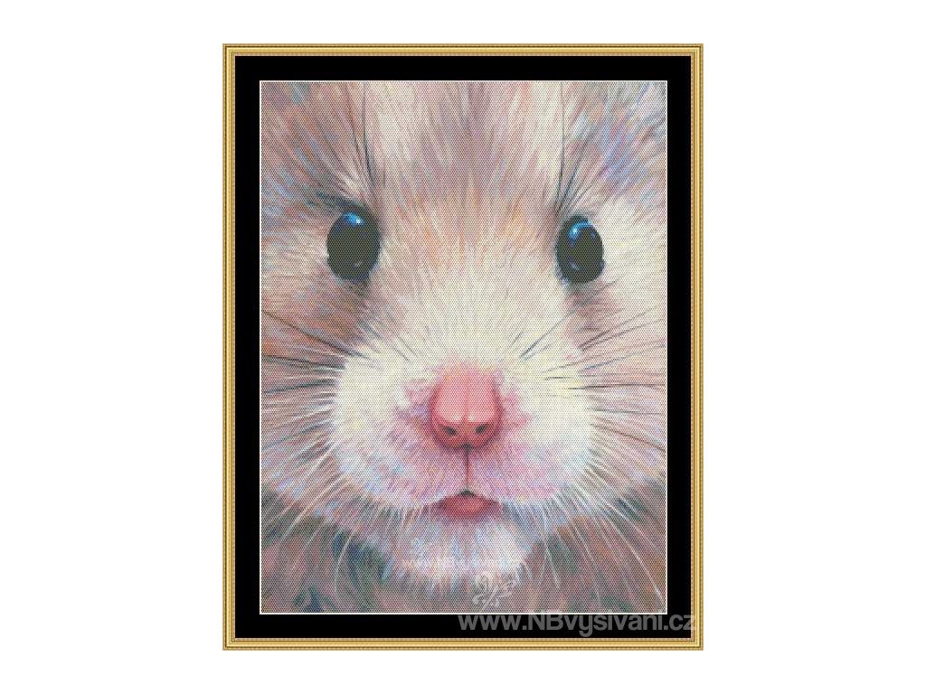 MS-CLB18 Hamster Face (Aida 18ct)