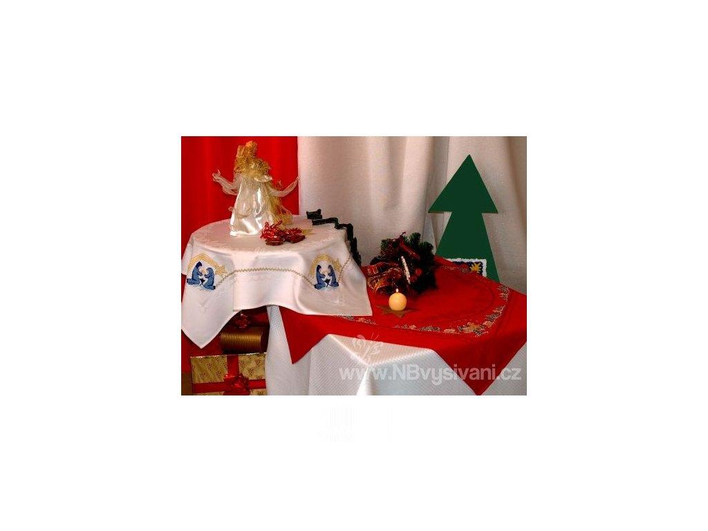 HOF6632-10 Vánoční ubrus Natale bílý (80x80cm)