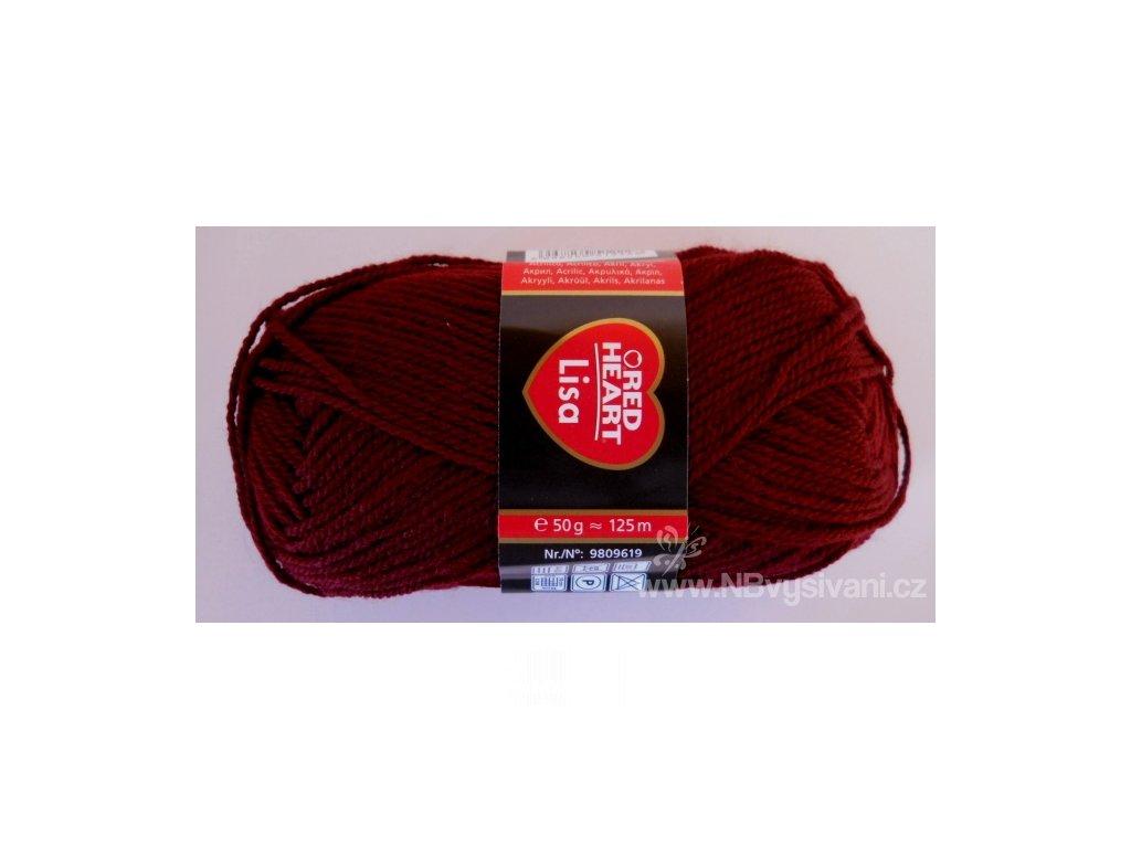 9809619-00999 Lisa 50g - Burgundy (doprodej)