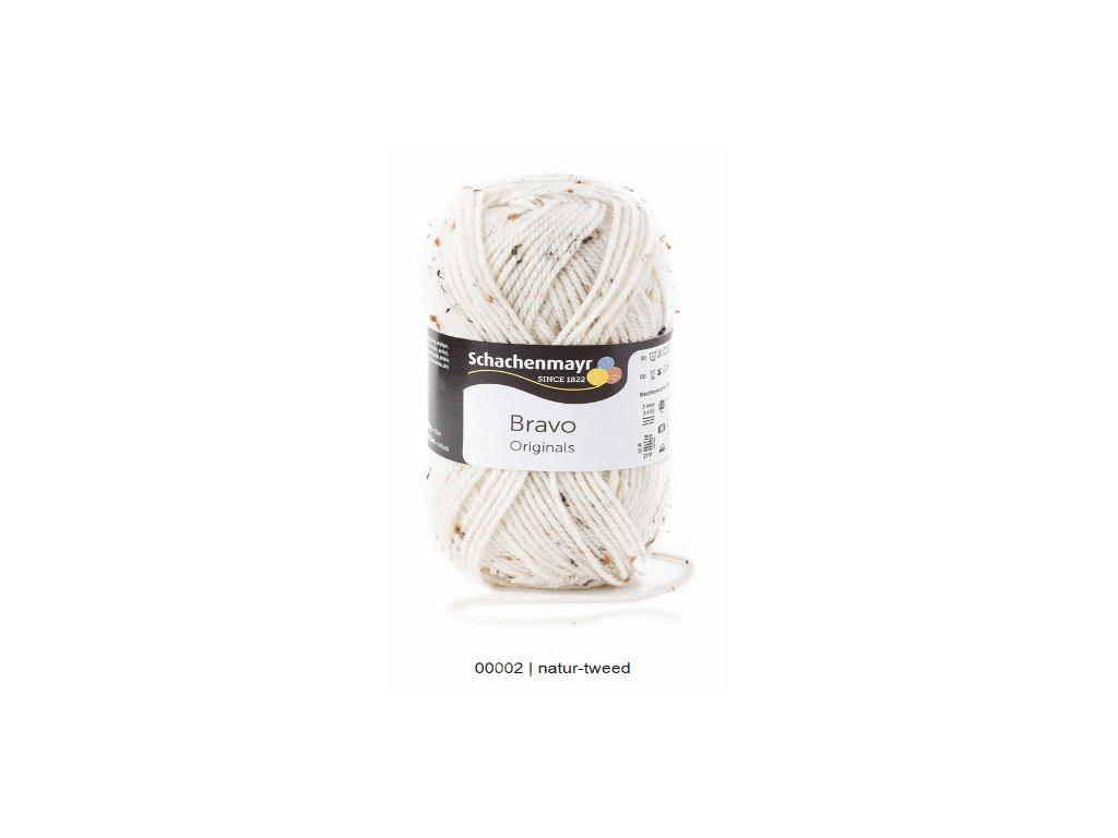 9801211-00002 Bravo 50g Natur Tweed