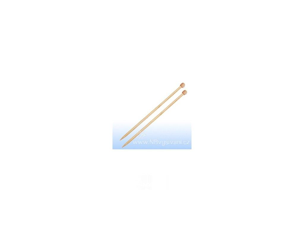 2226301 Pletací jehlice bambusové rovné 33cm/2,5mm