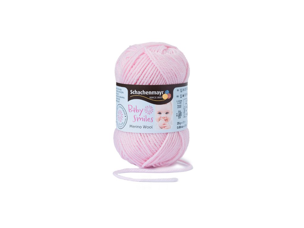 9807396-00034 Baby Smiles Merino Wool 25g - hellrose