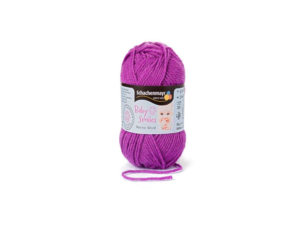 9807396-00049 Baby Smiles Merino Wool 25g - violett