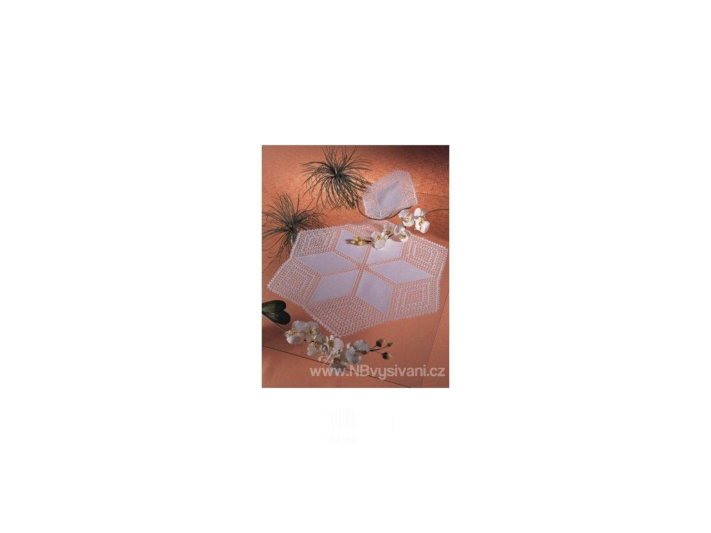 ZW7020-100 Tvar na obháčkování bílý - diamant (1ks)