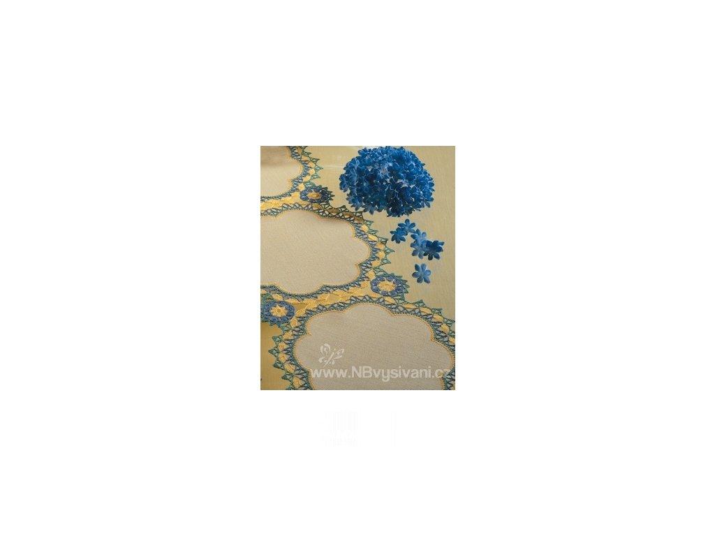 ZW7011-100 Tvar na obháčkování bílý - květ (1ks)